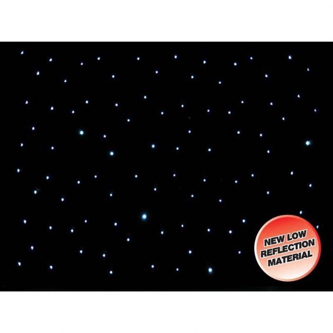 DMX 8 x 4.5m LED Starcloth System, Black Cloth, CW